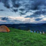 На палатка в с. Орцево - най-високото село на Балканите